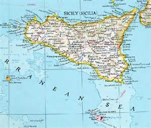 Sicily Island Italy Map