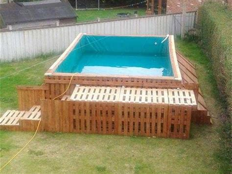 build  swimming pool    pallets diy swimming