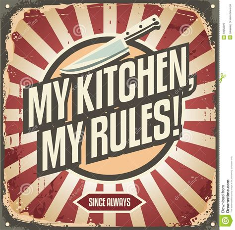 affiche vintage cuisine vintage kitchen sign stock vector image 53950020