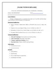 how to do resume outline in word doc easy resume exles printable templates free