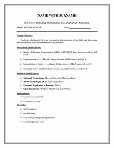 Doc Resume Examples Basic Resume Templates