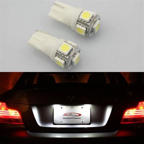tag light bulb 2 x 168 194 t10 2825 white 5 smd led bulbs for toyota