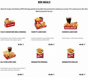 Kfc Menu Prices  U0026 Specials