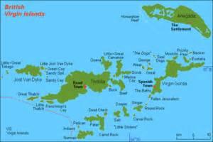ヴァージン諸島:地図