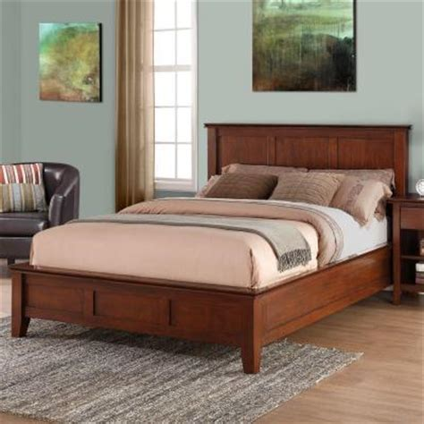 Bed Frame Headboard Footboard simpli home artisan pine wood headboard and