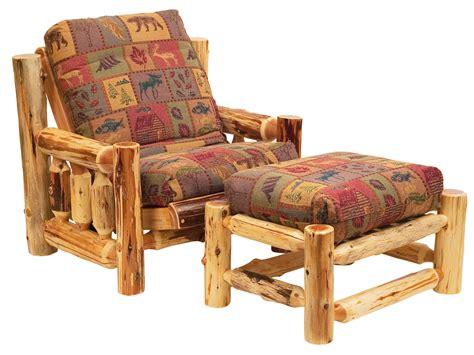 Futon Chair Ottoman Covers cedar futon chair and ottoman set and futon cover