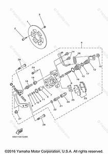 Yamaha Side By Side 2012 Oem Parts Diagram For Rear Brake