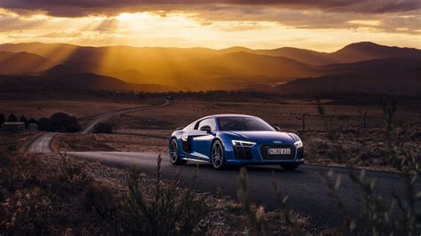 audi   side view road
