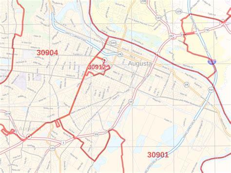 Augusta Ga Zip Code Map