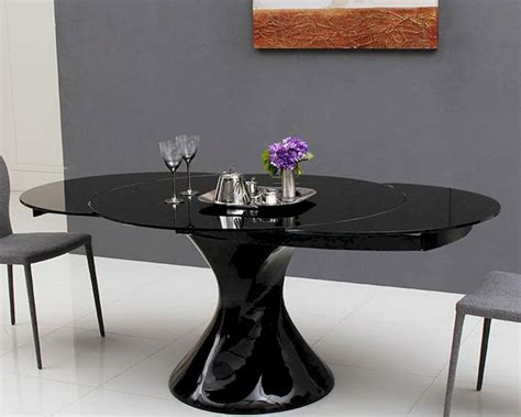 Round Extendable Lacquer Dining Table 44D2609XT 5