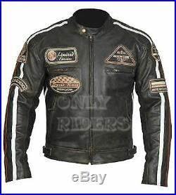 Taille Blouson Moto : veste en cuir moto homme vintage cafe racer leather jacket blouson taille xl veste cuir homme ~ Medecine-chirurgie-esthetiques.com Avis de Voitures