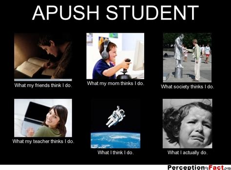Apush Memes - apush student what people think i do what i really do perception vs fact