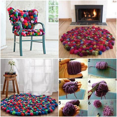 faire un tapis en fabriquer un tapis pompons rond 192 faire tapis pompon pompons et tapis