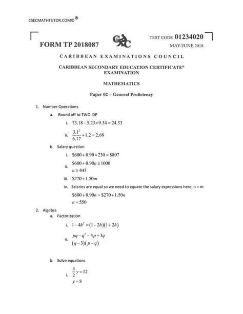 csec mathematics   solutions csec math tutor