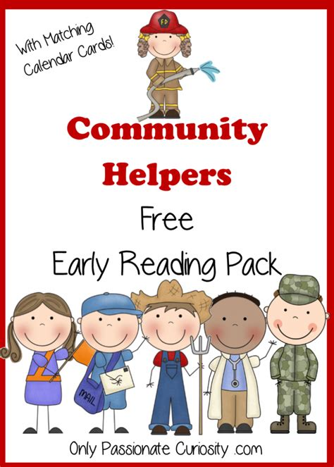 community pictures for preschoolers community helpers free pocket calendar cards and reading 111