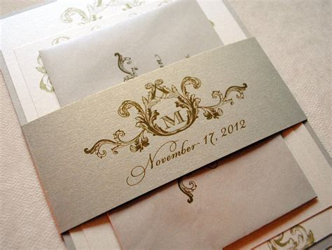 Wedding Invitations Ivory Wedding Invitation Vintage Wedding