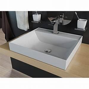 Aufsatzwaschbecken 60 Cm : waschbecken eckig 50 cm ov98 hitoiro ~ Indierocktalk.com Haus und Dekorationen