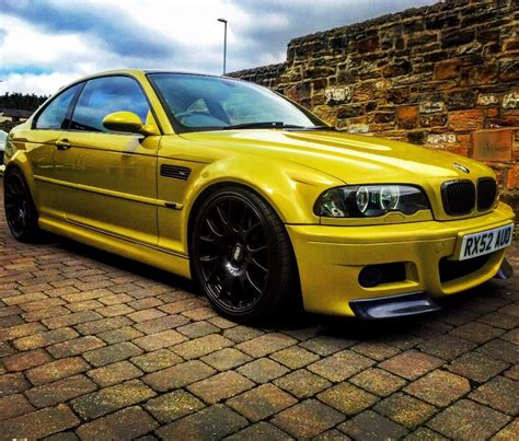 Modified White Bmw 3 Series by Bmw M3 E46 3 Series Coupe Smg Modified Yellow In