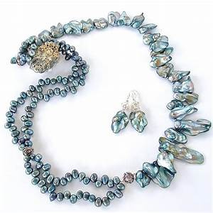 sirene inspired pearl statement necklace earth