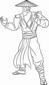 Mortal Coloring Kombat Pages Raiden Worksheets Bestcoloringpagesforkids Via sketch template