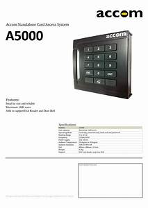 Accom A5000 Smart  U0026 Durable Standalone Door Access With