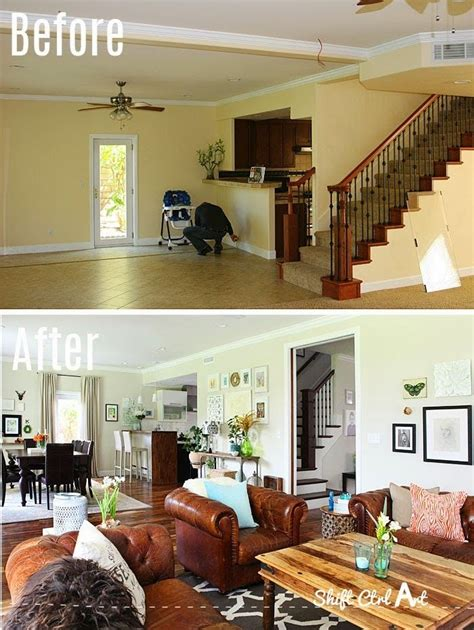 Adding To The Living Room by Amazing How They Changed An Awkward Layout With The Stairs