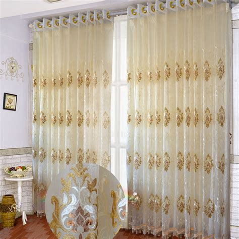sheer voile curtain fabric coffee window curtain floral embroidered sheer burnout