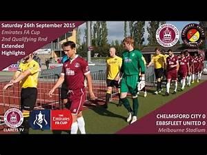 Emirates FA Cup: Chelmsford City 0 vs 0 Ebbsfleet United ...
