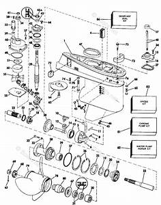 Johnson Outboard Parts By Year 1986 Oem Parts Diagram For Gearcase