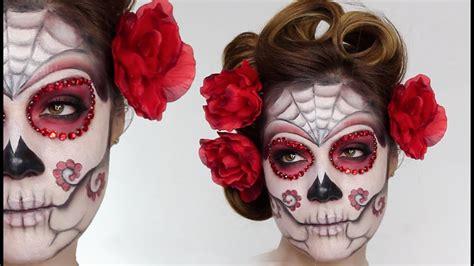 easy sugar skull day   dead makeup tutorial  halloween shonagh scott showme makeup
