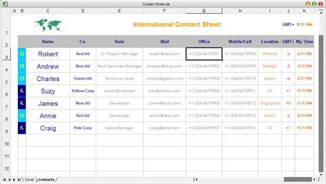 Contacts Spreadsheet Template by Free Ready To Use Excel Spreadsheet Templates Downloads