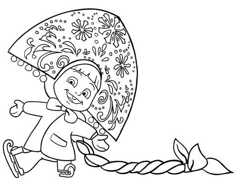 disegni di mascia e orso da colorare disegno da colorare di masha snegurochka