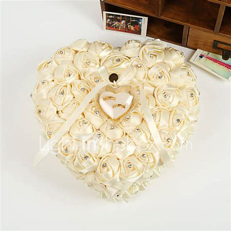 heart shape rose flower pearl ring box pillow for wedding 26 26 14cm 3325376 2017 99