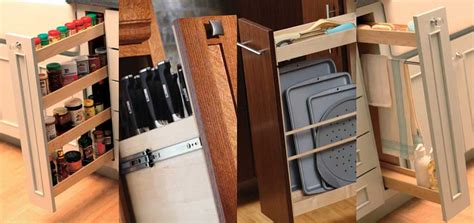 kitchen cabinet accessory options pull out cabinet storage from dura supreme cabinetry