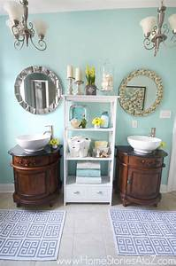 Sherwin-Williams Watery Bathroom Makeover - Home Stories A