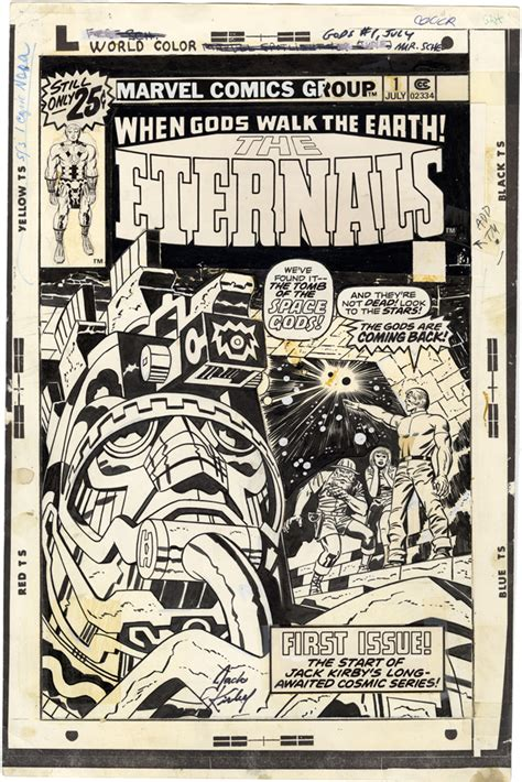 Gallery of Comic Art by Jack Kirby : The Eternals, Issue 1 ...