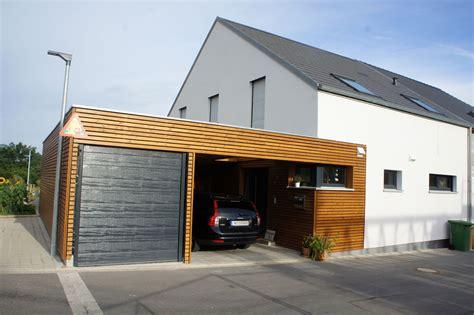 Einfamilienhaus Modern Holzhaus Satteldach Garage Mit