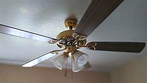 52 U0026quot  Polished Brass Encon Vintage Ceiling Fan  2 Of 2
