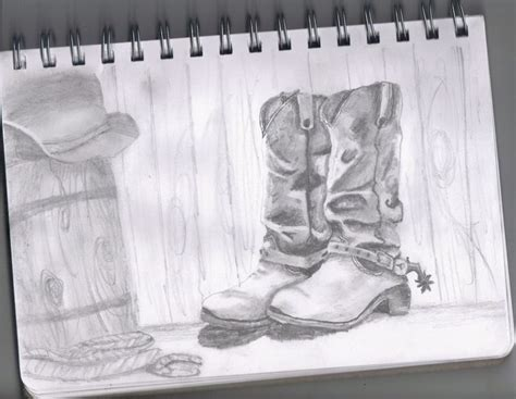 drawing  cowboy boots dream inspire create