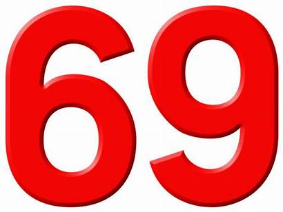 69 Number Nine Background Sixty 3d Numeral