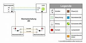 Schaltplan Für Wechselschaltung : wechselschaltung elektroinstallation selber machen ~ Eleganceandgraceweddings.com Haus und Dekorationen
