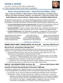 best chief financial officer resume resume sles chief financial officer multi industries
