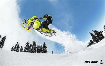 Snow Skiing Wallpaperaccess Doo Ski Sled Snowmobile
