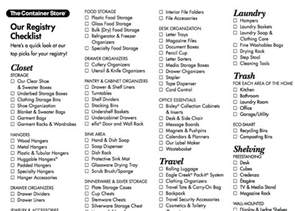 wedding registry 8 best images about wedding registry checklist on we the container and wedding
