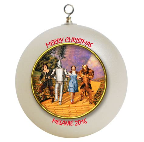 personalized wizard of oz christmas ornament gift ornaments