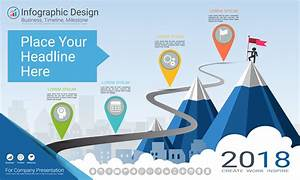 History Timeline Template Free Business Infographics Template Milestone Timeline Or Road