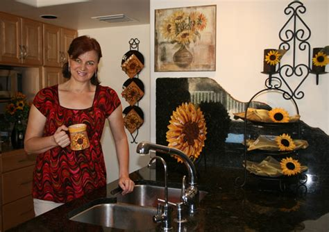 sunflower kitchen decor theme seasonal decorating accents that make a difference