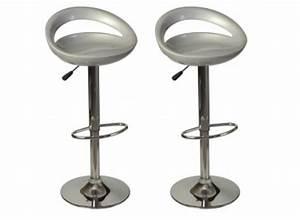 Tabouret De Bar Pas Cher : lot de 2 tabourets de bar blanc tabouret design pas cher ~ Dailycaller-alerts.com Idées de Décoration