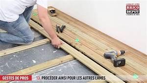 Lame De Terrasse Bois Brico Depot : comment fixer des lames de terrasse youtube ~ Dailycaller-alerts.com Idées de Décoration
