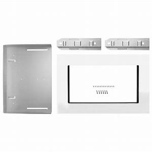 Whirlpool 27 In  Microwave Trim Kit In White Mk2227aw